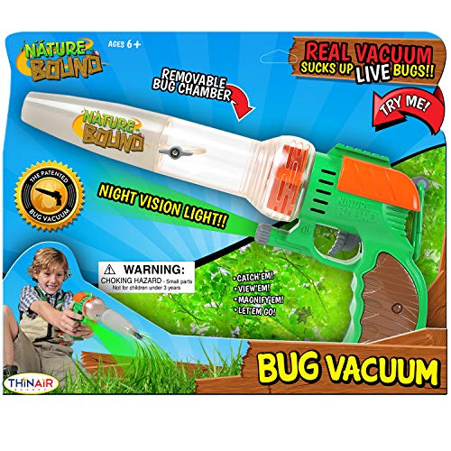 Nature Bound Bug Catcher Toy, Eco-Friendly Bug Vacuum, Catch and Release Indoor/Outdoor Play, Ages 5-12
