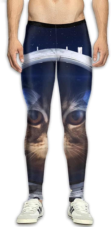 Dfdffrfrwqq Space Cat Men's Active Basic Athletic Skinny Track Pants