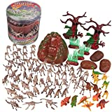 SCS Direct Skeleton Dinosaur Toys Action Figures- 75 Pieces, 25 Unique Sculpts- Dinosaur Party Favors Playset- Full of Dino Fossil Figurines