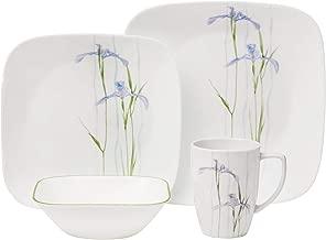 Corelle Square Shadow Iris Dinnerware Set (16-Piece, Service for 4)