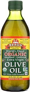 Bragg Olive Oil - Organic - Extra Virgin - 16 oz - case of 12 - 95%+ Organic - - - - -