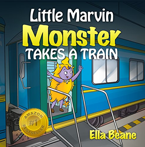 Little Marvin Monster - Takes a Train: Rhyming Children's Book for Beginners (English Edition)