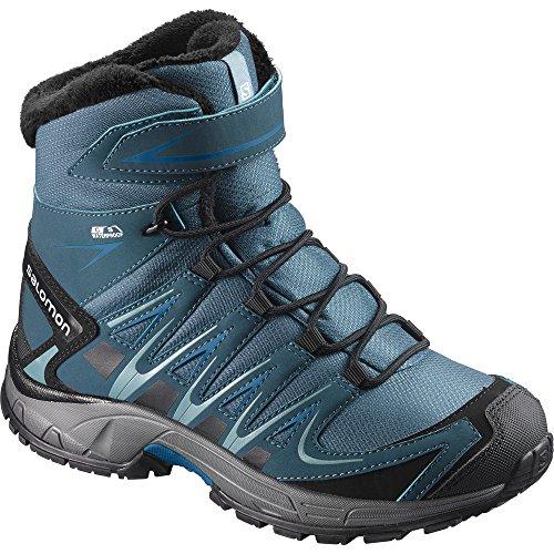SALOMON Jungen Xa Pro 3D Winter Ts CSWP K Trekking- & Wanderstiefel, Schwarz (Mallard Blue/Reflecting Pond/Mykono 460), 26 EU