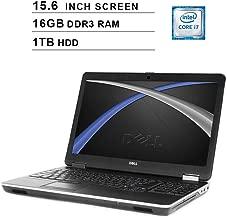 2019 Premium Dell Latitude E6540 15.6 Inch Business Laptop (Intel Quad Core i7-4800MQ up to 3.7GHz, 16GB DDR3 RAM, 1TB HDD, Intel HD 4600, DVD, WiFi, HDMI, Windows 10 Pro) (Renewed)