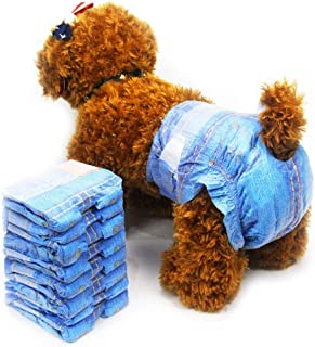 Pet Soft Diapers Female Fashion - Diapers Cowboy-Style for Cute Girl Small Dogs Cats, Disposable Pet Diapers XS, S, M