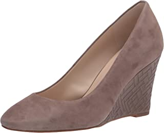 Cole Haan womens Marit Wedge (85mm) Platform, Walnut Suede/Walnut Quilted Leather, 9 US