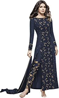 Bollywood Priyanka Chopra Stylish Pants Formal Party Salwar Kameez Suit Timeless Hit ((XL-42), Blue)