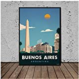 Vintage Buenos Aires Poster Wandkunst Poster Leinwand