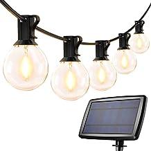 LE solkedjelampor utomhus, 7,62M 25 lysdioder G40 utomhusbelysning, USB uppladdningsbar, 4-läge solkedja för trädgård, brö...