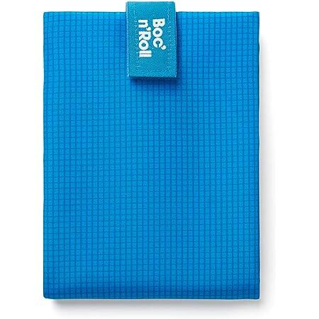 Rolleat Azul Bolsa Merienda Porta Sandwich Reutilizable y Ecol/ógico sin BPA SnacknGo Patchwork