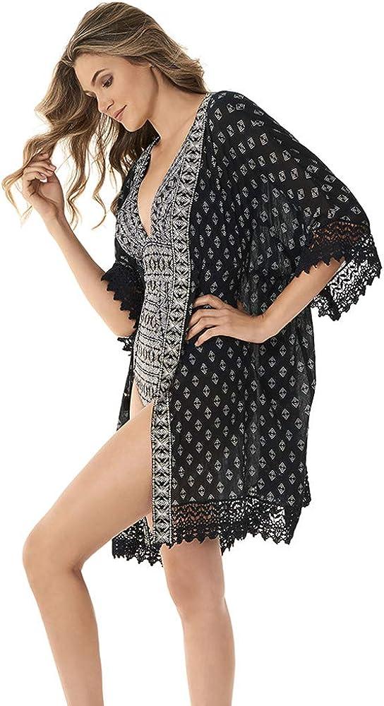 Miraclesuit Women's Incan Treasure Beach Cover Kimono Wrap Department store Denver Mall Swim