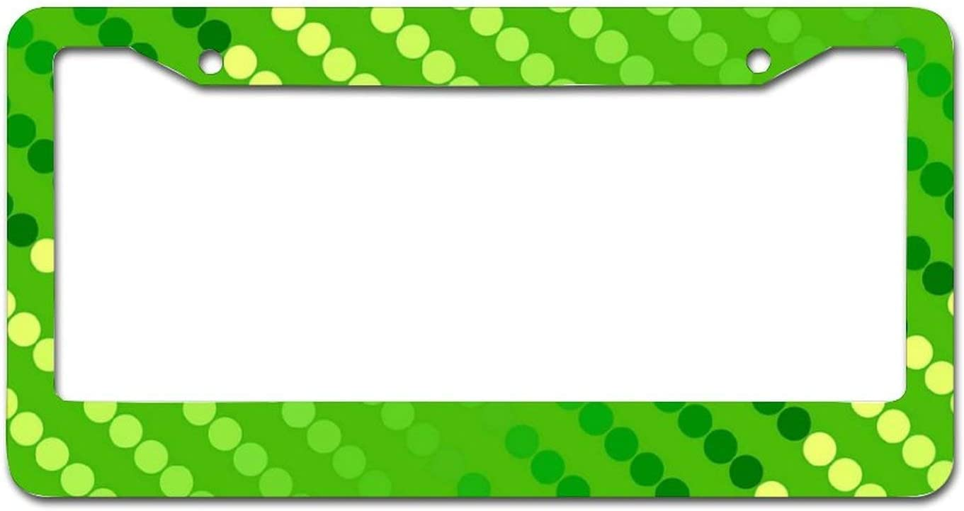 Conaway Satin Dots Shades of Lime License Pla Car Green Ranking ...