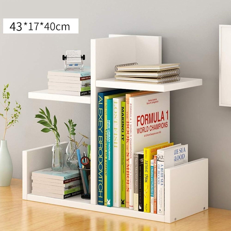 Wood Book Stand Rack Desktop Bookshelf, Small Bookcase Storage Shelves Cabinet Book Organizer Decor Display-F 43x17x40cm(17x7x16inch)