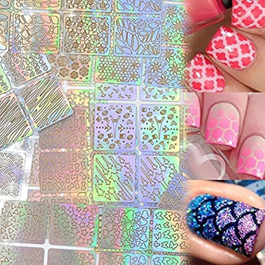 平野砂の化合物Lady Up ネイル用装飾 可愛いネイル飾り テープ ネイル パーツ ネイルーシール 今年流行ネイティブ柄ネイルステッカー 24枚セット