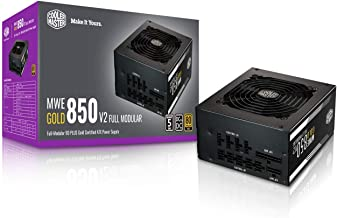 $119 » Cooler Master MWE Gold 850 V2 Fully Modular, 850W, 80+ Gold Efficiency, Quiet HDB Fan, 2 EPS Connectors, High Temperature ...