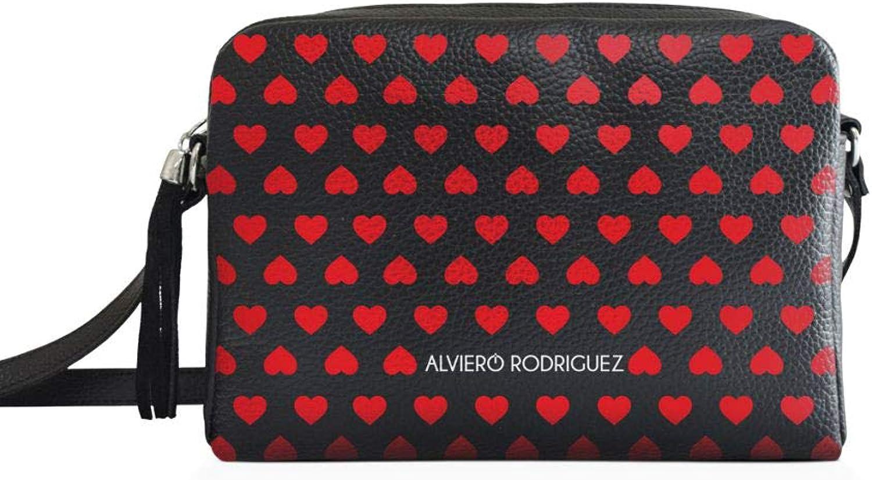 Alviero Rodriguez , , , Damen Umhängetasche Schwarz Schwarz 25,5x18x8 B07KJD3N4C  Im Gegensatz zu dem gleichen Absatz 48fc9d
