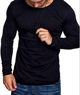 Howely Men's Lightweight Long Sleeve Gym Training Jersey Slim Fit Shirts