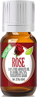 Rose Essential Oil - 100% Pure in Jojoba (30%/70% Ratio) Best Therapeutic Grade - 10ml