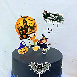 set1 Halloween Party Supplies 5Pcs Cake Decorations Toppers