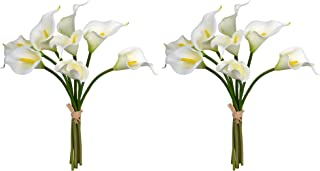 YATAI 16 Pcs Artificial Flowers Real Touch Calla Lily Artificial Plants Fake Flowers Floral Bouquet for Home Parties Weddi...