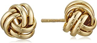 Amazon CollectionPlata de ley de grosor Amor Nudo Post Earrings