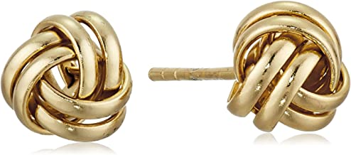 Sterling Silver Thick Love Knot Post Earrings
