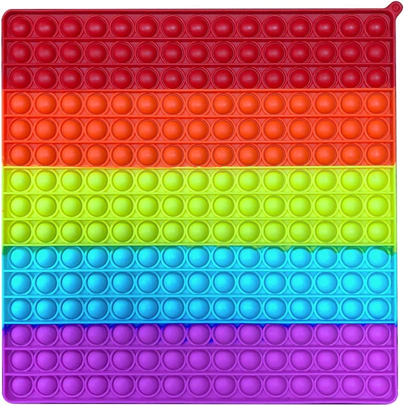 Big New product type Size Push Pop Bubble 7.87 Silicone Reliever Stress Pus Ranking TOP3 Inch