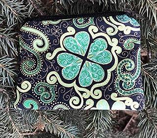 Unique Custom Saint Patricks Day Shamrock Ireland Leprechaun Women Trifold Wallet Long Purse Credit Card Holder Case Handbag