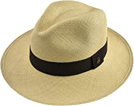 Original Panama Hat - Classic Fedora - Black Band - Toquilla Straw - Handwoven in Ecuador by Ecua-Andino