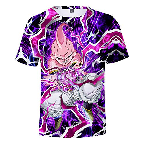 T-Shirts,Sommer Lässig Hipster T-Shirts Bluse Sport Anime T-Shirt Unisex Dragon Ball Tops Hipster Jungen Hemd Cartoon Druck XXXXL