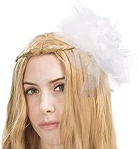 CHLONG Fascinators Hat for Women Feather Mesh Fancy Hat for Girls Wedding Cocktail Tea Party Headwear