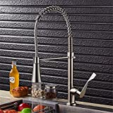 <span class='highlight'><span class='highlight'>Lalaky</span></span> Taps Faucet Kitchen Mixer Sink Waterfall Bathroom Mixer Basin Mixer Tap for Kitchen Bathroom and Washroom Nickel Brushed Hot and Cold Water Spring Pull Large Size Single Shower