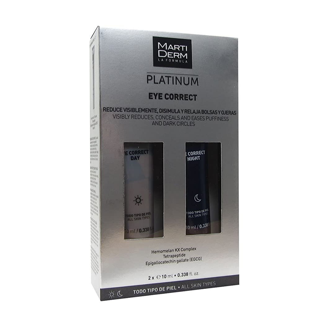 尋ねるに話す更新Martiderm Platinum Eye Correct Day + Night 2x10ml [並行輸入品]