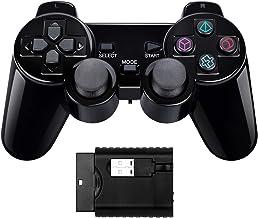 Controlador inalámbrico de Doble Choque Compatible con PS1/PS2/PC/Raspberry pi