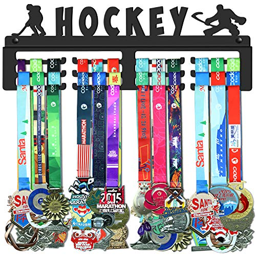 WEBIN Hockey Medaillen Aufhänger Halter Display Rack,Schwarz Super Hart Stahl Metall,Wandmontage Über 50 Medaillen