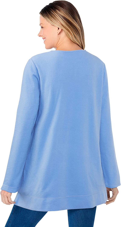 Woman Within Women's Plus Size Sherpa Sweatshirt