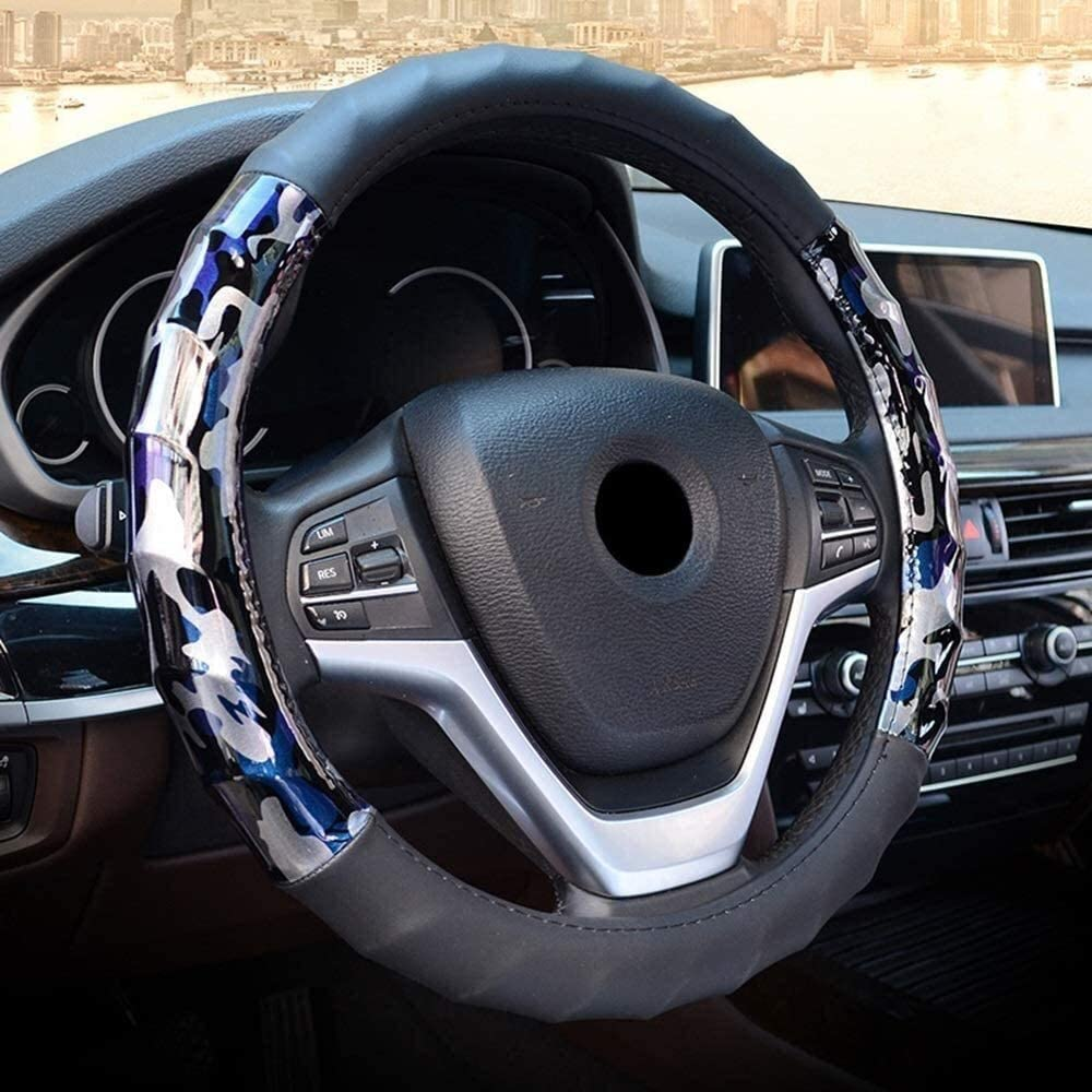 SJY Special sale item Steering wheel cover Black New Max 56% OFF covers Microfi