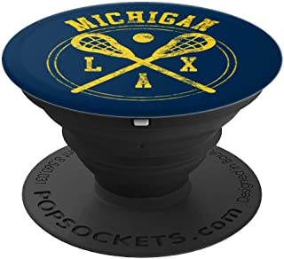 Michigan Lacrosse LAX Logo PopSockets Grip and Stand for Phones and Tablets