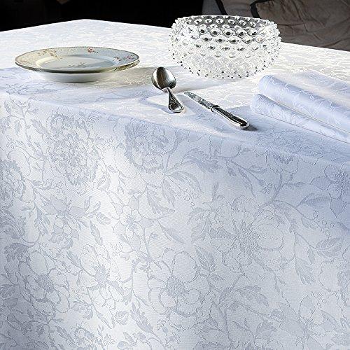 Garnier Thiebaut Tischdecke Mille Charmes Blanc 135 x 175 cm beschichtet