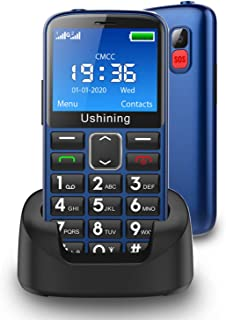 Ushining Seniors Cell Phones Unlocked SOS Button Hearing Aid Compatible 3G AT&T Senior Basic Cell Phones Large Volume 2.4 ...