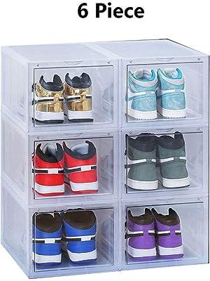 Savlot DIY durchsichtigen Kunststoff Schuhkartons Faltbare