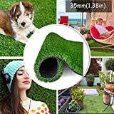 Artificial Grass Turf Realistic Fake Grass Synthetic Thick Lawn Grass Mat Pet Turf Outdoor Garden Landscape (10ft x 6.5ft (65 Square ft)