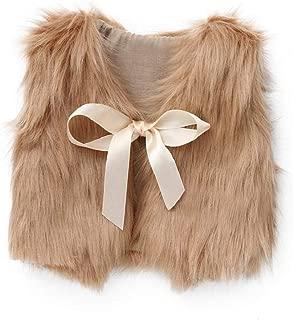 VICGREY ❤ Bambini Faux Pelliccia Vest Cappotti Indumenti Caldi Cappotto Felpa Sleeveless Casual Giacca del Mantello Autunno Inverno