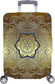 InterestPrint Mandala Floral Swirls Eastern Travel Luggage Case Baggage Suitcase Cover Fits 26