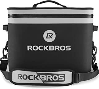 ROCK BROS Soft Cooler 30 Can Insulated Leak Proof Soft Pack Coolers Waterproof Soft Sided Cooler Bag for Camping, Fishing, Road Beach Trip, Golf, Picnics