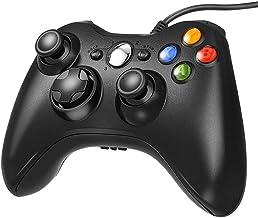 Controle com fio Xbox 360, gamepad USB para Microsoft Xbox 360/Slim/PC, preto
