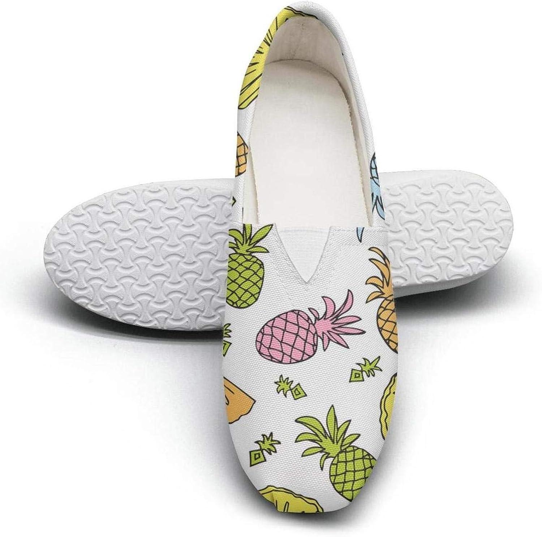 Geometric Pineapple pattern Fairytale Princess Women's Extra Light Flat Walking Sneakers Ladies Loafer shoes