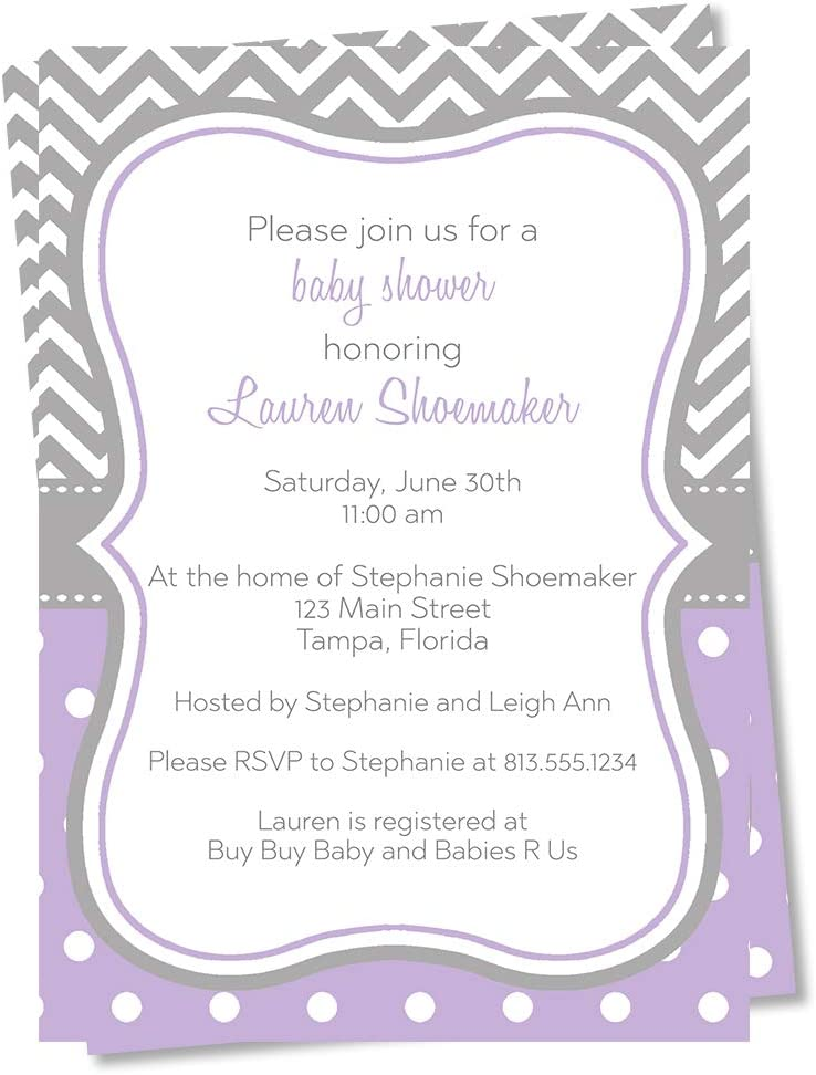 Personalized Baby Shower Invite Baby Shower Invitation Chevron Baby Shower Invite Custom Chevron Gender Neutral Baby Shower Invitation