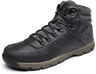 LANGBAO Men's Hiking Boots Genuine Leather Outdoor Casual Ankle Boot Lightweight Backpacking Trekking Shoes