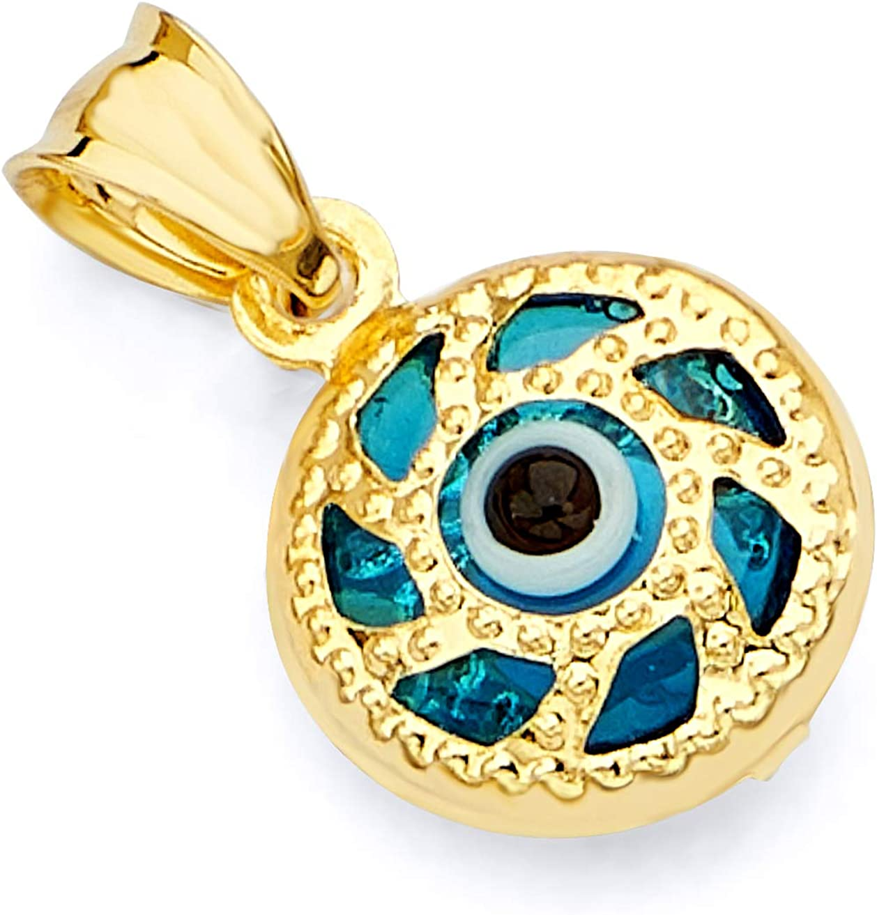 GoldenMine Fine Jewelry Collection 14k Yellow Gold Evil Eye Pendant
